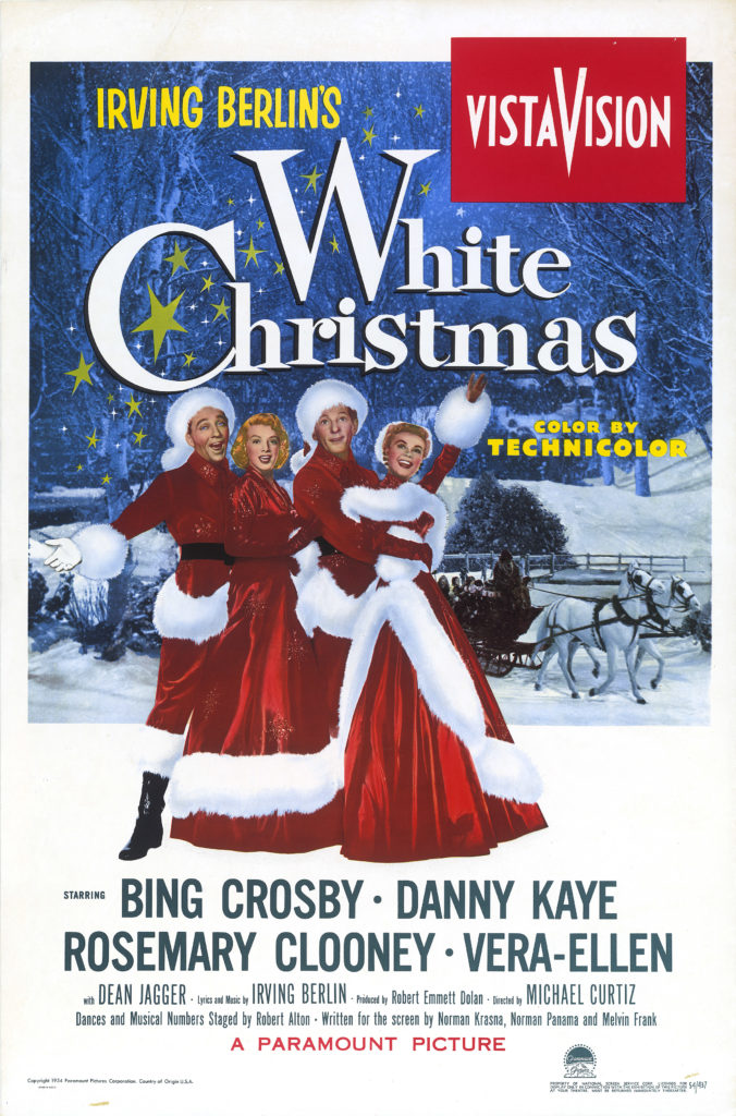 """In celebration of actor Danny Kaye's centennial, the Academy of Motion Picture Arts and Sciences will screen the holiday classic """"White Christmas"""" (1954) at Oscars Outdoors in Hollywood on Thursday, December 6, and Friday, December 7, at 7 p.m.   Pictured: WHITE CHRISTMAS, 1954."""